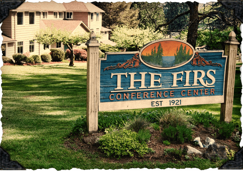 The Firs Retreat Center Sign